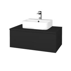 Dřevojas - Koupelnová skříňka MODULE SZZ1 80 - L03 Antracit vysoký lesk / L03 Antracit vysoký lesk (297558)