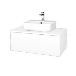 Dřevojas - Koupelnová skříňka MODULE SZZ1 80 - N01 Bílá lesk / L01 Bílá vysoký lesk (297817)