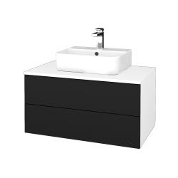 Dřevojas - Koupelnová skříňka MODULE SZZ2 80 - N01 Bílá lesk / N08 Cosmo (298272)