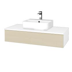 Dřevojas - Koupelnová skříňka MODULE SZZ 100 - N01 Bílá lesk / D02 Bříza (298555)