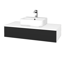 Dřevojas - Koupelnová skříňka MODULE SZZ 100 - N01 Bílá lesk / L03 Antracit vysoký lesk (298692)
