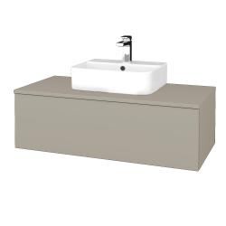 Dřevojas - Koupelnová skříňka MODULE SZZ1 100 - L04 Béžová vysoký lesk / L04 Béžová vysoký lesk (298975)