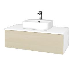 Dřevojas - Koupelnová skříňka MODULE SZZ1 100 - N01 Bílá lesk / D02 Bříza (299026)