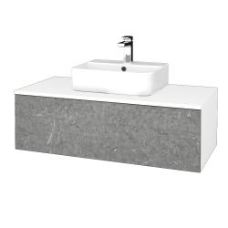 Dřevojas - Koupelnová skříňka MODULE SZZ1 100 - N01 Bílá lesk / D20 Galaxy (299262)