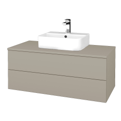 Dřevojas - Koupelnová skříňka MODULE SZZ2 100 - M05 Béžová mat / M05 Béžová mat (299415)