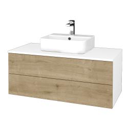 Dřevojas - Koupelnová skříňka MODULE SZZ2 100 - N01 Bílá lesk / D09 Arlington (299552)