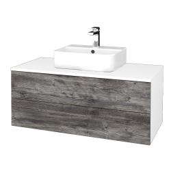 Dřevojas - Koupelnová skříňka MODULE SZZ2 100 - N01 Bílá lesk / D10 Borovice Jackson (299569)