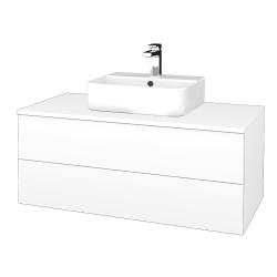 Dřevojas - Koupelnová skříňka MODULE SZZ2 100 - N01 Bílá lesk / M01 Bílá mat (299606)