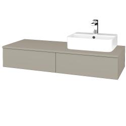 Dřevojas - Koupelnová skříňka MODULE SZZ2 120 - L04 Béžová vysoký lesk / L04 Béžová vysoký lesk / Levé (299910)