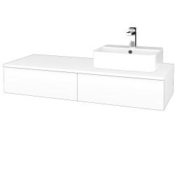 Dřevojas - Koupelnová skříňka MODULE SZZ2 120 - N01 Bílá lesk / M01 Bílá mat / Levé (300074)
