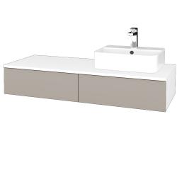 Dřevojas - Koupelnová skříňka MODULE SZZ2 120 - N01 Bílá lesk / N07 Stone / Levé (300142)