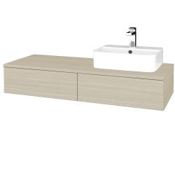 Dřevojas - Koupelnová skříňka MODULE SZZ2 120 - D04 Dub / D04 Dub / Pravé (300258P)