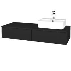 Dřevojas - Koupelnová skříňka MODULE SZZ2 120 - L03 Antracit vysoký lesk / L03 Antracit vysoký lesk / Pravé (300371P)