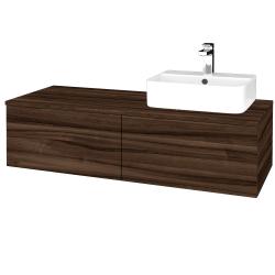 Dřevojas - Koupelnová skříňka MODULE SZZ12 120 - D06 Ořech / D06 Ořech / Levé (300746)