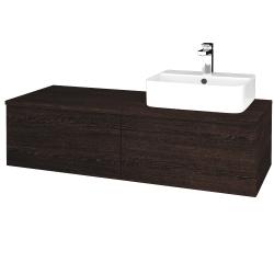 Dřevojas - Koupelnová skříňka MODULE SZZ12 120 - D08 Wenge / D08 Wenge / Levé (300753)