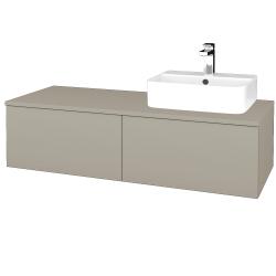 Dřevojas - Koupelnová skříňka MODULE SZZ12 120 - L04 Béžová vysoký lesk / L04 Béžová vysoký lesk / Levé (300852)
