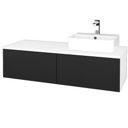 Dřevojas - Koupelnová skříňka MODULE SZZ12 120 - N01 Bílá lesk / L03 Antracit vysoký lesk / Levé (301040)
