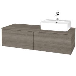 Dřevojas - Koupelnová skříňka MODULE SZZ12 120 - D03 Cafe / D03 Cafe / Pravé (301187P)