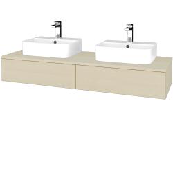 Dřevojas - Koupelnová skříňka MODULE SZZ2 140 - D02 Bříza / D02 Bříza (302580)