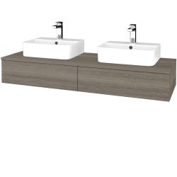 Dřevojas - Koupelnová skříňka MODULE SZZ2 140 - D03 Cafe / D03 Cafe (302597)