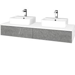 Dřevojas - Koupelnová skříňka MODULE SZZ2 140 - N01 Bílá lesk / D20 Galaxy (303020)