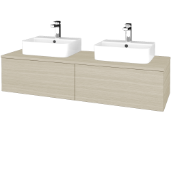 Dřevojas - Koupelnová skříňka MODULE SZZ12 140 - D04 Dub / D04 Dub (303075)