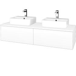 Dřevojas - Koupelnová skříňka MODULE SZZ12 140 - N01 Bílá lesk / M01 Bílá mat (303365)