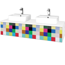 Dřevojas - Koupelnová skříňka MODULE SZZ12 140 - N01 Bílá lesk / IND Individual (303389)