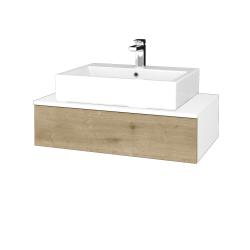 Dřevojas - Koupelnová skříňka MODULE SZZ 80 - N01 Bílá lesk / D09 Arlington (311292)