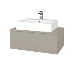 Dřevojas - Koupelnová skříňka MODULE SZZ1 80 - M05 Béžová mat / M05 Béžová mat (311629)