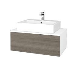Dřevojas - Koupelnová skříňka MODULE SZZ1 80 - N01 Bílá lesk / D03 Cafe (311711)