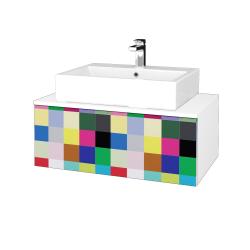 Dřevojas - Koupelnová skříňka MODULE SZZ1 80 - N01 Bílá lesk / IND Individual (311834)