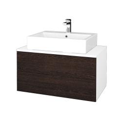 Dřevojas - Koupelnová skříňka MODULE SZZ2 80 - N01 Bílá lesk / D08 Wenge (312220)