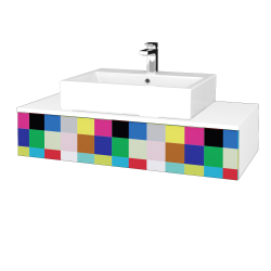Dřevojas - Koupelnová skříňka MODULE SZZ 100 - N01 Bílá lesk / IND Individual (312770)