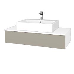 Dřevojas - Koupelnová skříňka MODULE SZZ 100 - N01 Bílá lesk / L04 Béžová vysoký lesk (312794)