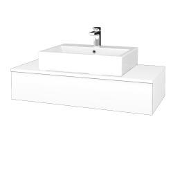 Dřevojas - Koupelnová skříňka MODULE SZZ 100 - N01 Bílá lesk / L01 Bílá vysoký lesk (312848)