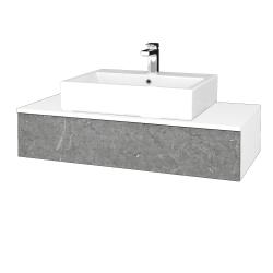 Dřevojas - Koupelnová skříňka MODULE SZZ 100 - N01 Bílá lesk / D20 Galaxy (312886)