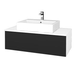 Dřevojas - Koupelnová skříňka MODULE SZZ1 100 - N01 Bílá lesk / L03 Antracit vysoký lesk (313258)