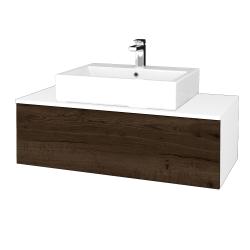 Dřevojas - Koupelnová skříňka MODULE SZZ1 100 - N01 Bílá lesk / D21 Tobacco (313364)