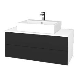 Dřevojas - Koupelnová skříňka MODULE SZZ2 100 - N01 Bílá lesk / N03 Graphite (313746)