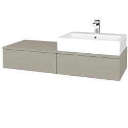 Dřevojas - Koupelnová skříňka MODULE SZZ2 120 - L04 Béžová vysoký lesk / L04 Béžová vysoký lesk / Levé (314002)