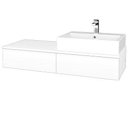 Dřevojas - Koupelnová skříňka MODULE SZZ2 120 - N01 Bílá lesk / L01 Bílá vysoký lesk / Levé (314255)