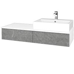 Dřevojas - Koupelnová skříňka MODULE SZZ2 120 - N01 Bílá lesk / D20 Galaxy / Levé (314293)