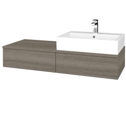 Dřevojas - Koupelnová skříňka MODULE SZZ2 120 - D03 Cafe / D03 Cafe / Pravé (314330P)