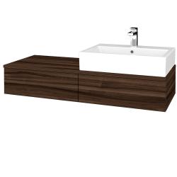 Dřevojas - Koupelnová skříňka MODULE SZZ2 120 - D06 Ořech / D06 Ořech / Pravé (314361P)