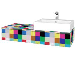 Dřevojas - Koupelnová skříňka MODULE SZZ2 120 - IND Individual / IND Individual / Pravé (314453P)