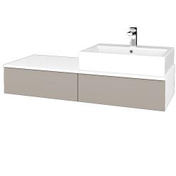 Dřevojas - Koupelnová skříňka MODULE SZZ2 120 - N01 Bílá lesk / N07 Stone / Pravé (314705P)