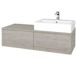 Dřevojas - Koupelnová skříňka MODULE SZZ12 120 - D05 Oregon / D05 Oregon / Levé (314828)