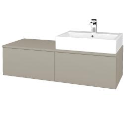 Dřevojas - Koupelnová skříňka MODULE SZZ12 120 - L04 Béžová vysoký lesk / L04 Béžová vysoký lesk / Levé (314941)