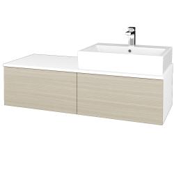 Dřevojas - Koupelnová skříňka MODULE SZZ12 120 - N01 Bílá lesk / D04 Dub / Levé (315016)